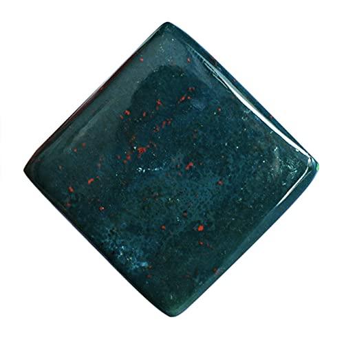 Cabujón de piedra de sangre natural, piedra colgante de forma cuadrada, semipreciosa, tamaño 28 x 28 x 5 mm, piedra preciosa para hacer joyas, 24218
