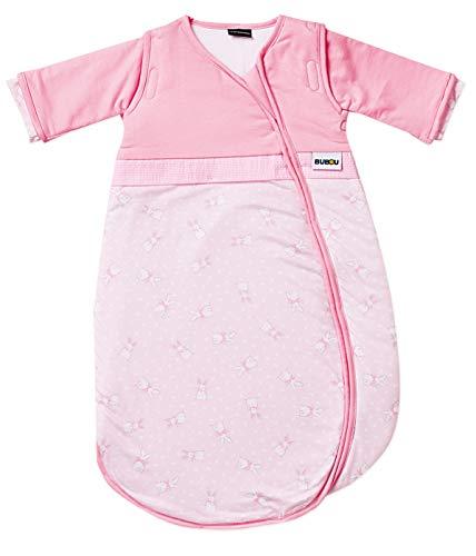 Gesslein Bubou Design 179: Temperaturregulierender Ganzjahreschlafsack/Schlafsack für Babys/Kinder, Größe 90, Rosa mit Hasen