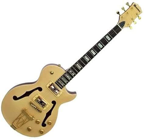 Chitarra elettrica ibrido tra Les Paul e semiacustica jazz natural Dimavery LP-600 - VALUTO SCAMBI/PERMUTA, POSSIBILITA