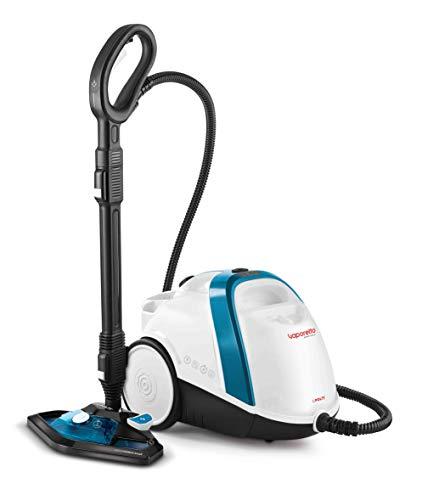 Polti Vaporetto Smart 100_B Cylinder steam cleaner Blue,White 1500 W - Vaporeta (Cylinder steam cleaner, Buttons, Stainless steel, Blue,White, 1500 W, Glass,Hard floor,Laminate,Tiles)