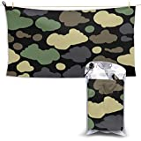 Badetuch, Beach Towels Green Black Camouflage Cloud Hand Towel Sheets Bath Linen Fast Dry Blanket Outdoor Travel Oversized Large Pool Swimsuits Covers Popular Bathroom Washcloths Yoga Mat for Foot