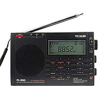 TECSUN PL-660 Receptor de Radio de Onda Corta, Am/FM/LW/SW/SSB y aérea (118-137 MHz)