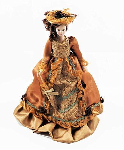 Melody Jane Casa delle Bambole Victorian Lady in Ruggine Completo Porcellana 1:12 Persone