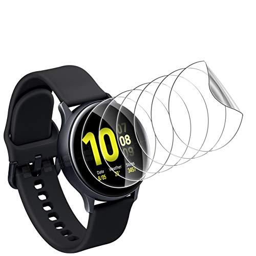 UniqueMe [6 Stück schutzfolie Kompatibel mit Samsung Galaxy Watch Active 2 44mm Folie, Soft HD TPU Clear Bildschirmschutz Bildschirmschutzfolie