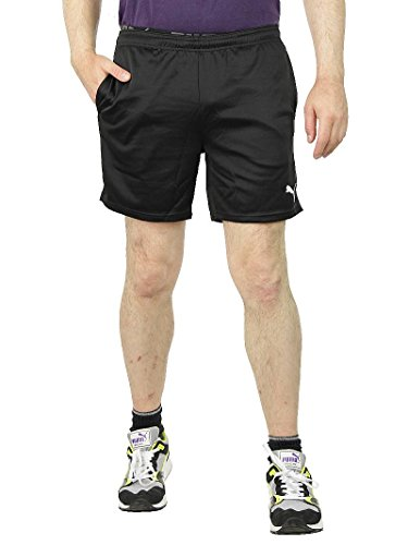 PUMA Kinder Kids Spirit Poly Shorts Hose Pants 653897 01 Black Sporthose Shorts, Bekleidung:164