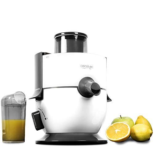 Cecotec Licuadora para Frutas y Verduras StrongTitanium 19000. 650W Potencia, 19000 rpm de Velocidad, Recubrimiento de Titanio en el Disco, Canal de Entrada XL, Color Blanco