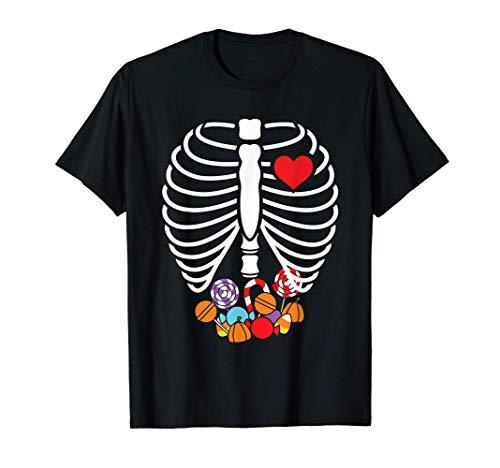 Disfraz de Halloween de caramelos X-Ray Skeleton Camiseta