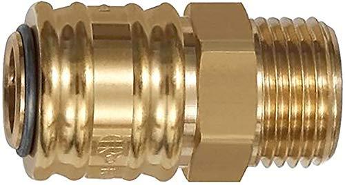 Schnellverschlusskupplung NW 7,2 »connect line«, MS blank, G 3/8 AG, Betriebsdr. 0-35 bar, Mediums-/Umgeb.temp. -20°C bis 100°C