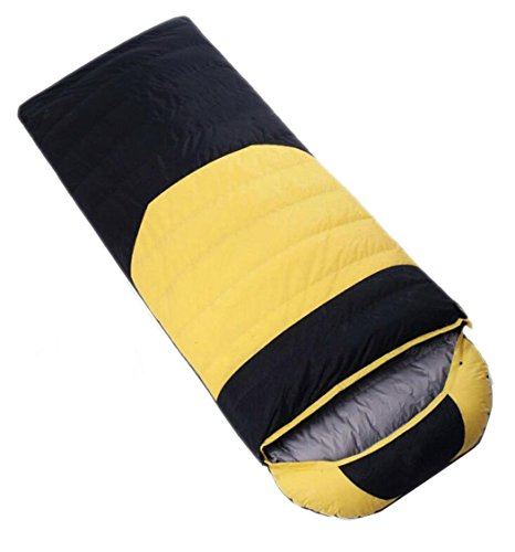 SONGSS Busta Sacco a Pelo Impermeabile, Comodo Sacco a Pelo da Campeggio Outdoor Escursionismo Invernale Anatra da Adulto Giù Sacco a Pelo può Essere Unito (Capacity : 1000, Colore : Blue Black)