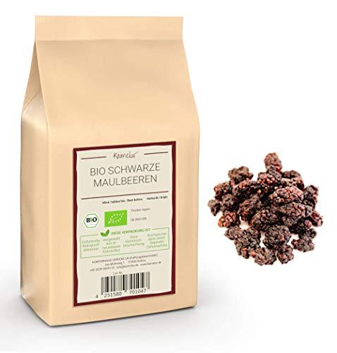 1kg BIO Maulbeeren schwarz getrocknet - leckere Trockenfrüchte ungeschwefelt und ungezuckert aus kontrolliert biologischem Anbau