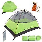 Carpa de camping para 2 personas Carpa de playa automática portátil A prueba de viento y lluvia Carpas profesionales de aluminio liviano para jardín al aire libre Camping Pesca Picnic Senderismo Verde