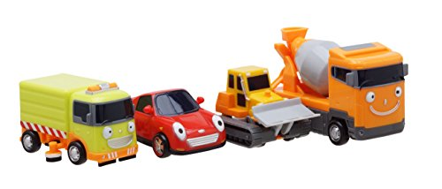 Little Bus TAYO FRIENDS Special Mini 4 Pcs No.3 Toy Set (Ruby + Chris + Speed + Billy)