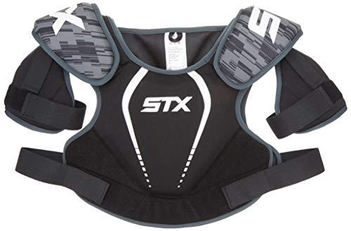 STX Lacrosse Stallion 75 Shoulder Pad, Black, Small