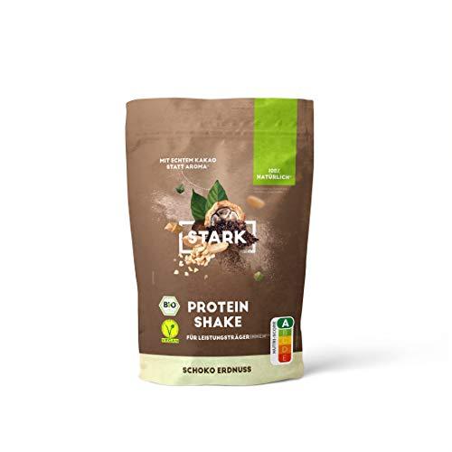 STARK Protein Shake Schoko Erdnuss 450 g   Leckerer Fitness-Drink ideal für den Muskelaufbau I Proteinpulver mit 100 {042c6d53716a32fd194b005c774584bc6227d85d3f1901a3f840063a4f4c88b0} natürlichen und rein pflanzlichen Inhaltsstoffen I 15 Portionen à 30 g