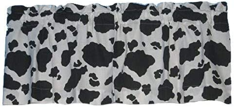 handmade Black White Cow 1 year warranty NEW Spot Cotton Window 100% Valance Curtain