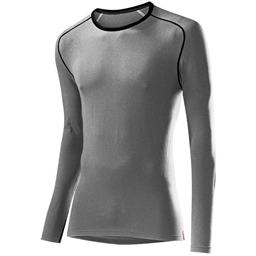 Löffler Herren Unterhemd Shirt Transtex Warm La, grau melé, 48, 10732