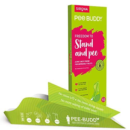 PEE BUDDY Urinal aus Pappe PIPI Trichter für Frauen, Pinkeln im Stehen, Urinierhilfe für Frauen Antibacterial 10 PIPI Trichter für Frauen