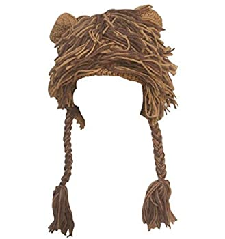 Kafeimali Kids Winter Animal Lion Knit Trooper Hat Beanie Funny Christmas Caps Green