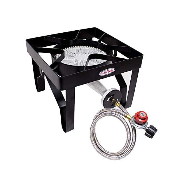 GasOne 200, 000 BTU Square Heavy- Duty Single Burner Outdoor Stove Propane Gas Cooker...