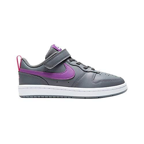 Nike Court Borough Low 2 (PSV) Zapatillas para niña gris de piel sintética Gris Size: 31 EU
