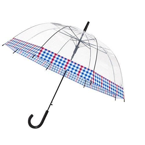 In de lucht der tijd - paraplu bel transparant - rand geruit
