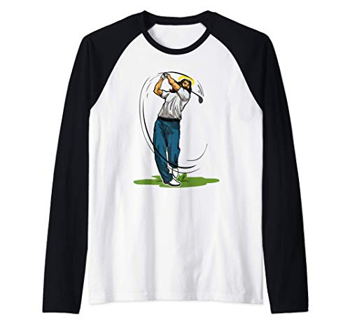 Divertido Jugador De Golf Regalo Jess Con Club De Golf Camiseta Manga Raglan