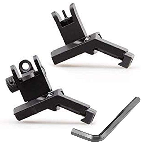 GOTICAL 45 Degree Offset Flip Up Sight | Low Profile Design Rapid Transition Front and Rear flip up Sights