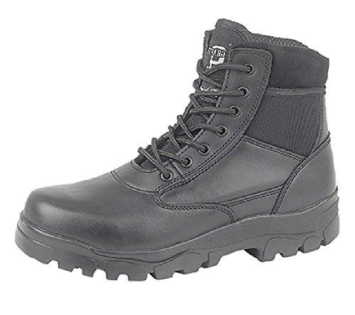 Buty bojowe dla mężczyzn/chłopców. Policja/bezpieczeństwa/walki z kadetem. Buty z podszewką Thinsulate, sznurowane z 7 oczkami., - Czarny - 40 EU