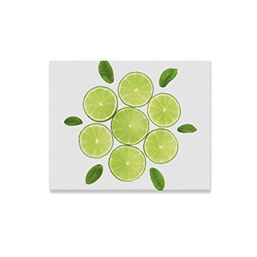 N\A Wandfarben Grüne Limette Zitrone Frucht Dekorative 3D-Wandkunst Herren Wanddekor Druckdekor Für Zuhause 20x16 Zoll