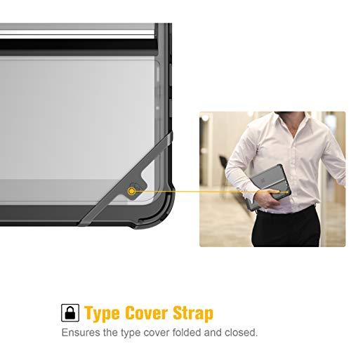 Fintie Hülle für Surface Go 2 2020 / Surface go 2018 10 Zoll, stoßfeste, robuste Schutzhülle mit Stifthalter und Hartschalen-Abdeckung für den Ständer, Type Cover kompatibel, Frost-Optik