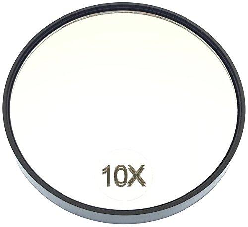 Roman Lösungen 10x Vergrößerung Spiegel mit 2Saugnapf Kappen, Schwarz