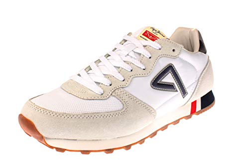 Pepe Jeans London Herren KLEIN Archive Sneaker, Weiß (White 800), 43 EU