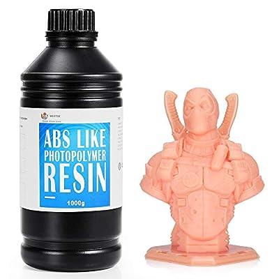WEISTEK 3D Resin UV 405nm Resin ABS-Like Photopolymer Resin for LCD 3D Printer,1000g(Skin)
