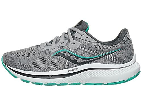 Saucony Women's Omni 20 Running Shoe, Alloy/Jade, 9