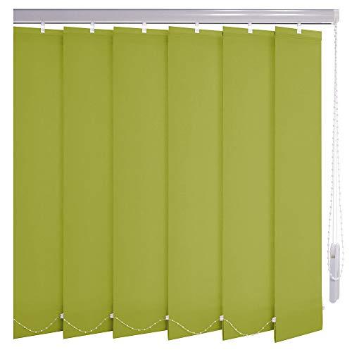 Sonnenschutz-HH® - Lamellenvorhang limone-apfelgrün lichtdurchlässig - Breite 290 cm x 345 cm Höhe - Lamellenbreite 127mm Vertikaljalousie Vertikalanlage Schiebevorhang