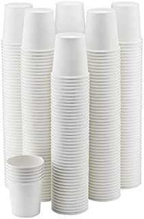 NYHI 300-Pack 8 oz. White Paper Disposable Cups – Hot/Cold Beverage Drinking Cup for Water, Juice, Coffee or Tea – Ideal for Water Coolers, Party, or Coffee On the Go'