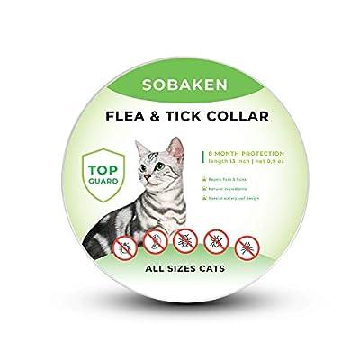 SOBAKEN Flea and Tick Prevention for Cats, Natu...