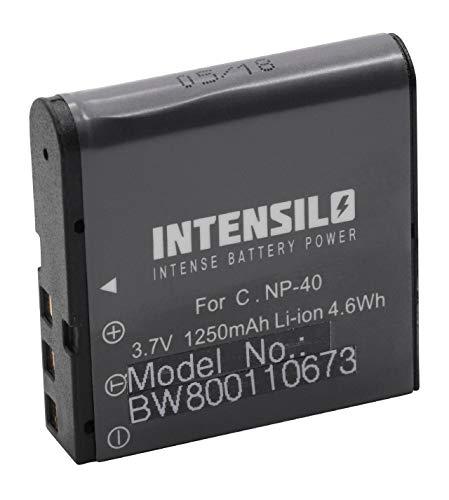 INTENSILO Akku kompatibel mit Silvercrest DV-1000HD, DV-5300HD Kamera Digicam DSLR (1250mAh, 3,7V, Li-Ion)