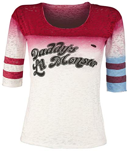 Suicide Squad Harley Quinn - Daddy's Little Monster Femme T-Shirt Manches Longues Multicolore S