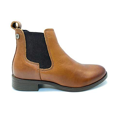 Botines para Mujer de Piel, con elásticos Laterales, diseño y Calidad en Tus Zapatos.