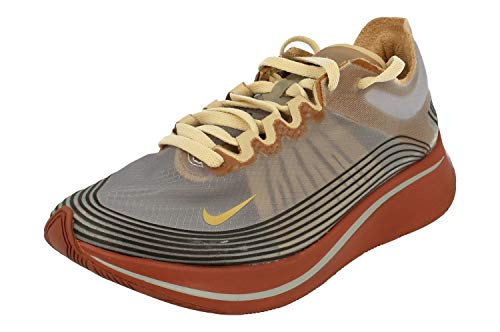 Nike Unisex Adults Zoom Fly Sp Competition Running Shoes, Multicolour (Wolf Grey/Metallic Gold/Desert Ore 001), 7.5 UK