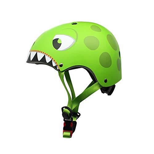 YGJT Casco Bicicleta Niños Protección de Cabeza de Seguridad de Dibujos Animados...