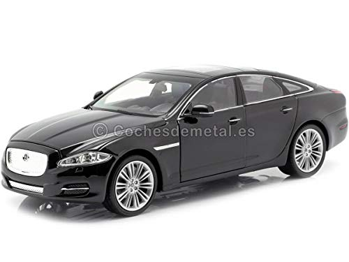 Jaguar XJ, schwarz, 2010, Modellauto, Fertigmodell, Welly 1:24
