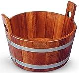 SudoreWell® - Vasca per sauna, in legno di kambala, con rivestimento igienico...