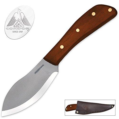 Condor Tool and Knife Nessmuk Knife, Wood Handle, Leather Sheath