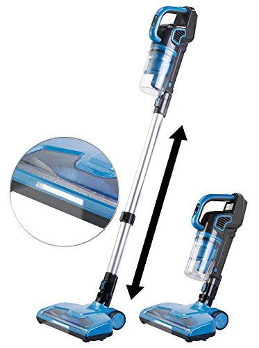 Sichler Haushaltsgeräte Staubsauger: Akku-Zyklon-Hand- & Bodenstaubsauger, Motor-Bürste, Nass-Wischer, 120W (Wischsauger)