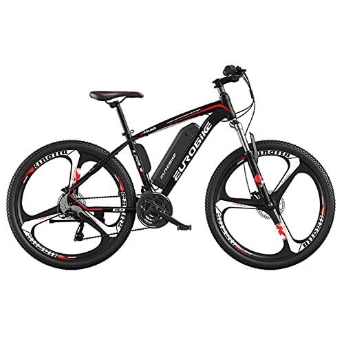 Luomei Bicicleta de Montaña para Hombre, Llantas de 26 Pulgadas, Marco de Aleación de Aluminio, Palanca de Cambios, Desviador Trasero de 27 Velocidades, Frenos de Disco Delanteros y Traseros
