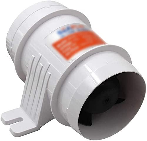 Ventilatore d'aria di sentina marino per barche silenziose 12V 145 CFM, ventilatore d'aria di sentina marino in linea da 3 pollici, montaggio verticale o orizzontale