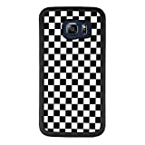 Samsung Galaxy S6 Edge Plus Grid Lattice Plaid Quadrille Tartan Design Check Pattern Damier House Checkerboard Chessboard Checker Flag Case, Tire Tread Texture Anti-Drop Anti-Skidding PC+TPU Case