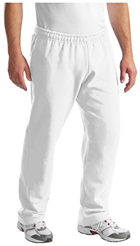 Port & Company Classic Sweatpant with Pockets - White